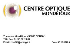 Carte Centre Optique Mondetour recto