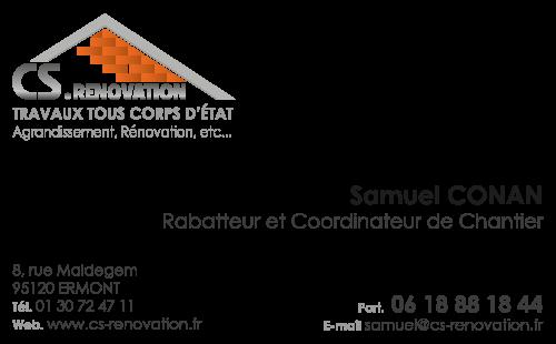 Carte De Visite CS Renovation