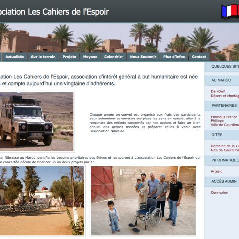 Site Asso Cahiers Espoir