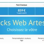 Packs Création de site Internet Artesio