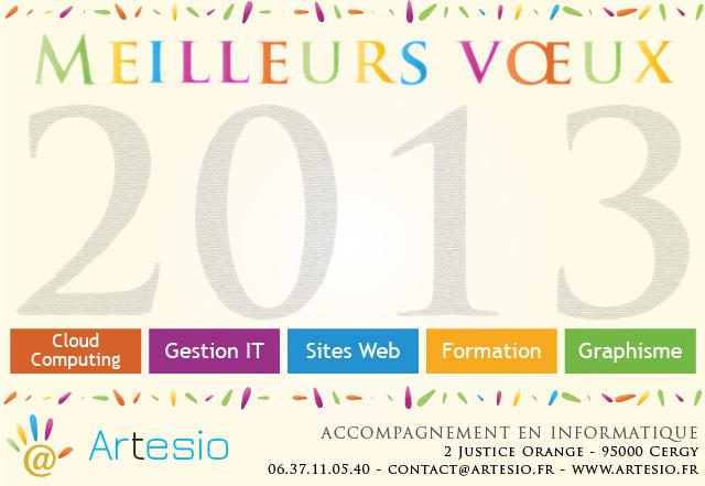 Carte de voeux Artesio 2013