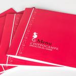 Brochure menu pelliculée
