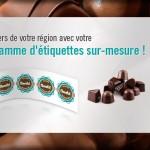 Etiquettes chocolatier