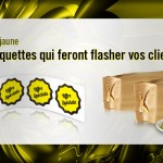 Etiquettes fluo jaune