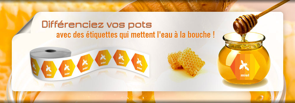 Etiquettes pour pots de miel