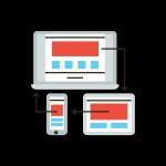 responsive website design concept